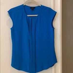 J. Crew sleeveless blue blouse size 4